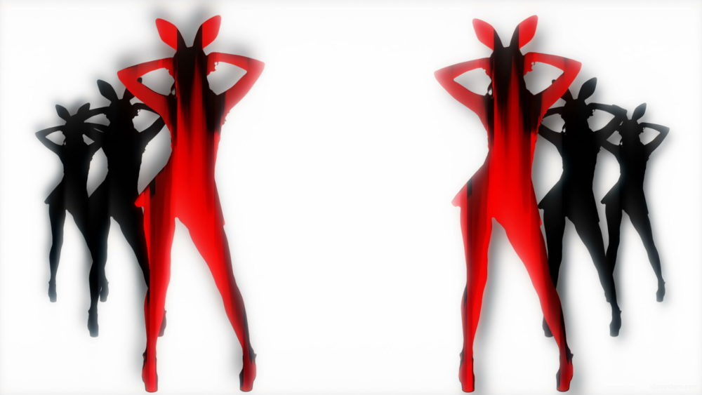 Red-Strobe-Bunny-Girls-Bodyguards-Side-Playboy-Rabbit-Dance-4K-Video-Art-VJ-Loop_006 VJ Loops Farm