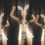Red-Strobing-Bunny-Beats-Girls-with-Time-Displace-Effect-4K-Video-Art-Vj-Loop_002 VJ Loops Farm