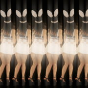 Rotating-Strobing-Bunny-Girl-Jump-4K-Video-Art-Vj-Loop_005 VJ Loops Farm