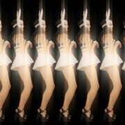Rotating-Strobing-Bunny-Girl-Jump-4K-Video-Art-Vj-Loop_009 VJ Loops Farm