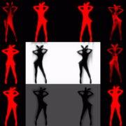 Side-Red-Double-Girls-Rabbit-Playboy-Effect-4K-Video-Art-VJ-Loop VJ Loops Farm