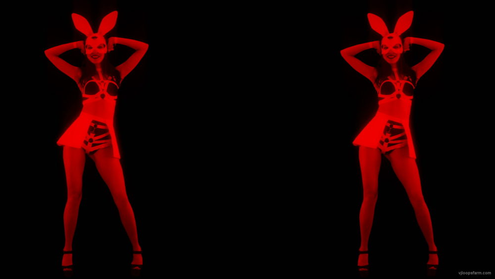 Side-Red-Double-Girls-Rabbit-Playboy-Effect-4K-Video-Art-VJ-Loop_006 VJ Loops Farm