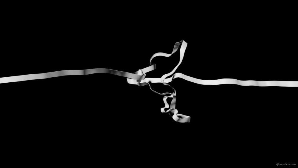 vj video background Single-white-ribbon-stripe-lines-isolated-on-black-background_003
