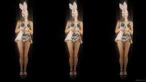 vj video background Trio-Team-Girl-Bunny-Go-Go-Jump-Video-Art-4K-VJ-loop_003