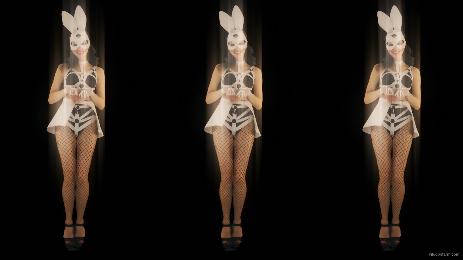 vj video background Trio-Team-Girl-Bunny-Go-Go-Jump-Video-Art-4K-VJ-loop_003