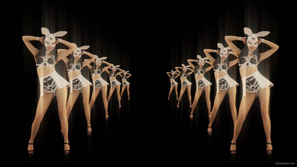 vj video background Tunnel-Playboy-Girls-Rabbit-4K-Video-Art-VJ-Loop_003