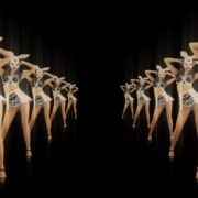 vj video background Tunnel-Playboy-Girls-Rabbit-4K-Video-Art-VJ-Loop_003