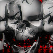 3D animation of skull made of computer graphics visuals_vj_loops_Layer