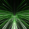 A hypnotic 3d rendering of a grid formed tunnel in the black background.vj_loops_Layer