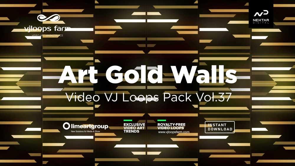 Art-Gold-Walls-Visuals-Vj-loops