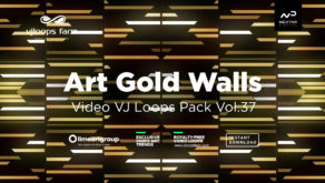Art Gold wallpaper vj loop