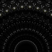 Black background featuring a pattern with dynamic circle graphics glass visuals_vj loops Layer