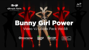 bunny go go dancing girl vj loop 4k vj loop pack