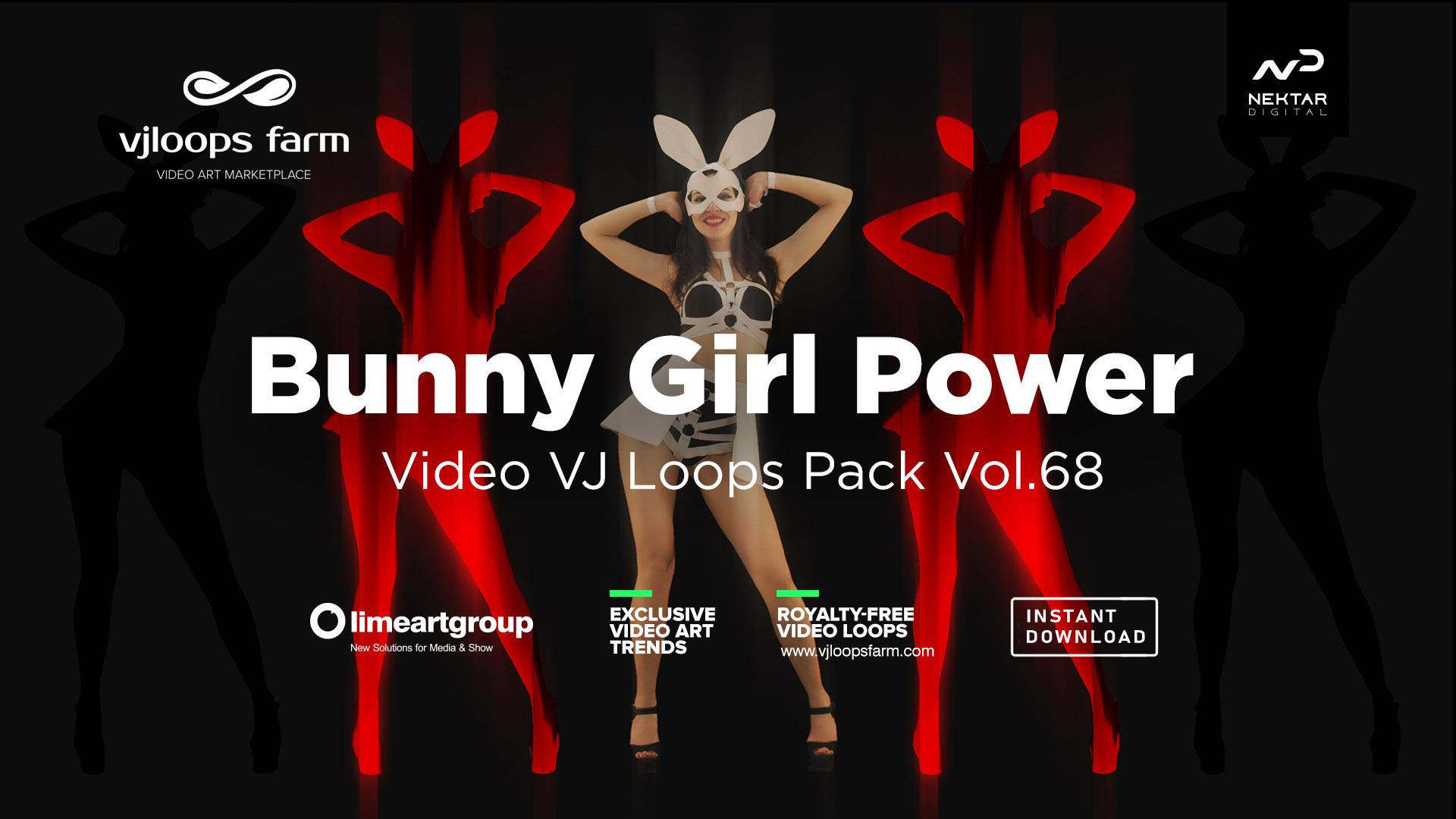 bunny go go dancing girl vj loop 4k vj loop pack