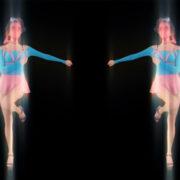 go go dancing girl pattern vj loop