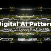 Digital-AI-motion-pattern-vj-loop