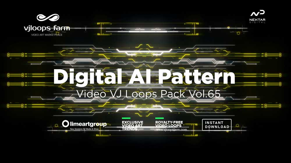 Digital-AI-motion-pattern-vj-loop