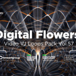 digital flower live video loop wallpaper