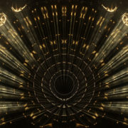 Fiery wave reflection in circular pattern_vj_loops_Layer