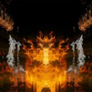abstract fire video footage loop