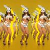 jumping rabbit girl in playboy costume go go dancing woman video vj loop