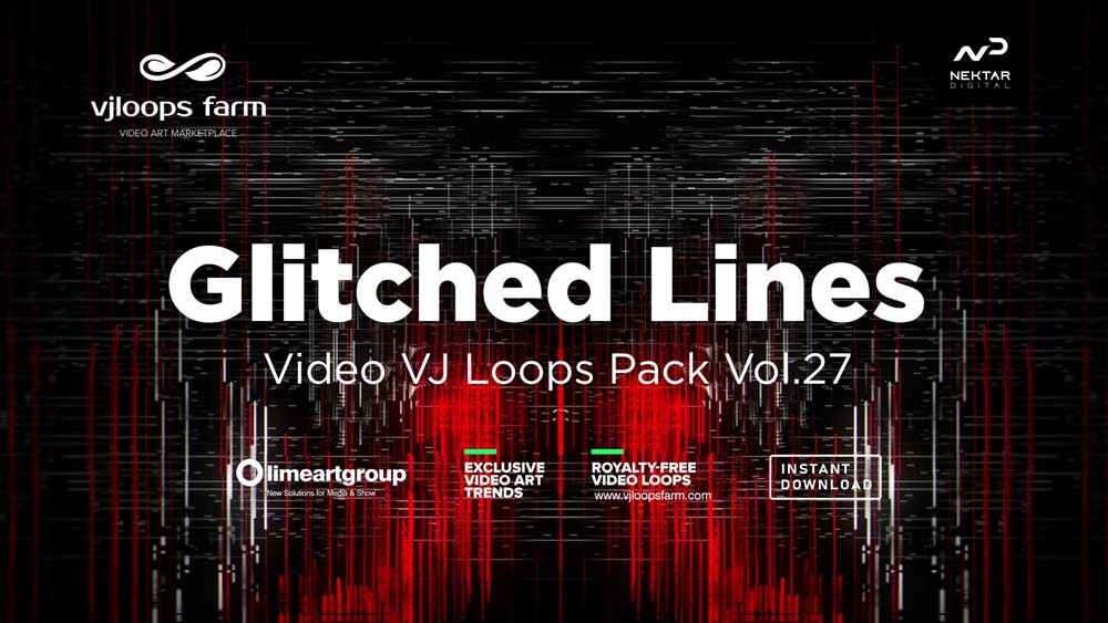 Glitched-Lines-VJ-loops