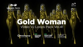 Gold-Woman-3D-Animation-VJ-loop