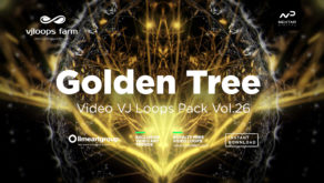 Gold tree abstract wallpaper vj loop