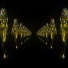gold woman star video footage vj loop