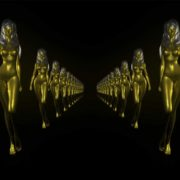 gold woman star video footage vj loop