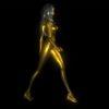 golden 3d woman animation vj loop