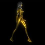 golden 3d woman animation vj loop