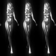 Golden_Woman_Gold_Girl_3D_Animated_Motion_background_Video_VJ_loop