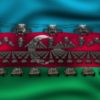 azerbajdgan flag army 3d animation video footage vj loop