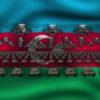 azerbajdgan flag army 3d animation video footage vj loop
