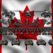 canade flag army 3d animation video footage vj loop
