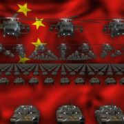 china flag army 3d animation video footage vj loop