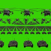 green screen flag army 3d animation video footage vj loop