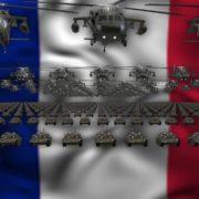 france flag army 3d animation video footage vj loop