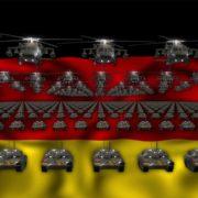germany flag army 3d animation video footage vj loop