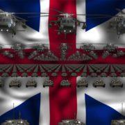 britain flag army 3d animation video footage vj loop