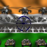 indian flag army 3d animation video footage vj loop