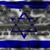 israel flag army 3d animation video footage vj loop