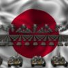 japan flag army 3d animation video footage vj loop