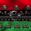 Iran flag army 3d animation video footage vj loop