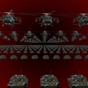 army 3d animation video footage vj loop
