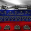 russian army 3d animation video footage vj loop