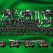 saudi arabia army 3d animation video footage vj loop