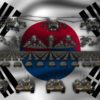 south korea army 3d animation video footage vj loop