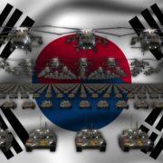 south korea army 3d animation video footage vj loop